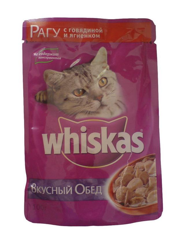Корм вискас whiskas рагу с говядиной и ягненком