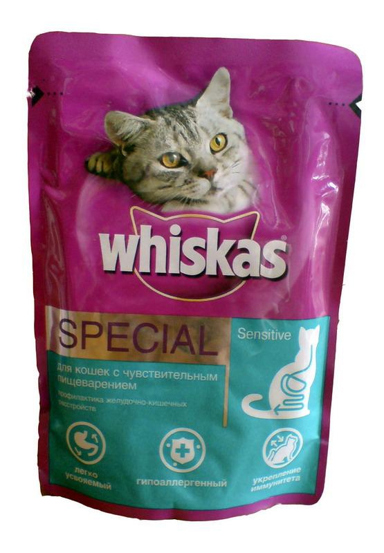 Whiskas Special Вискас спешал - корм для кошек с чуствительным пищеварением