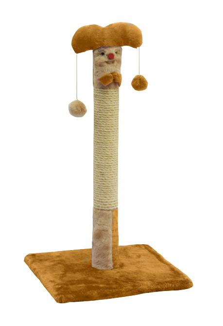 Дряпка для кошек столбик «Клоун» ДО2