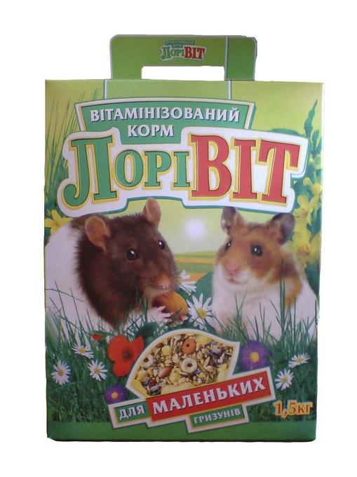 Лоривит для мелких грызунов 1,5 кг.
