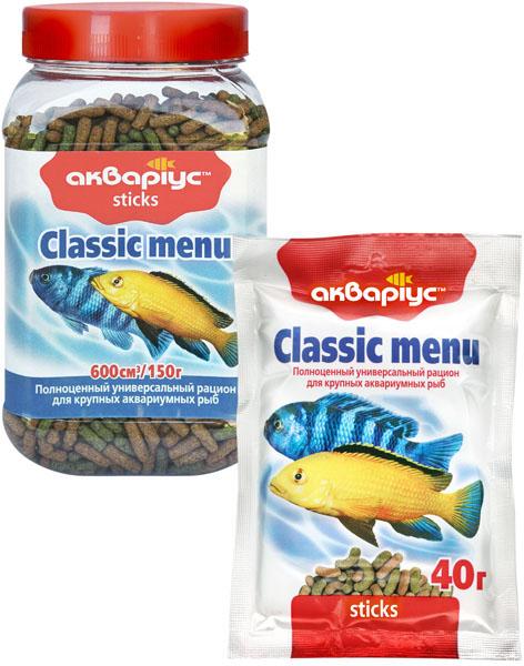 аквариус стики для крупных рыб