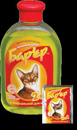 шампунь барьер для кошек