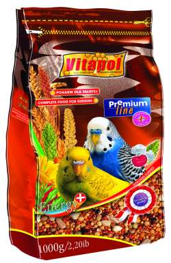 zvp-0212 Витапол ZVP-0212ПРЕМИУМ полнорационный корм для волнистых попугаев 1 кг.
